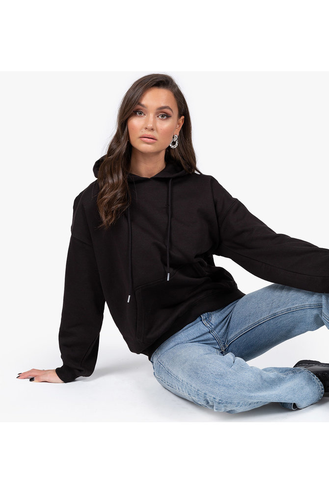 Zwarte hoodie