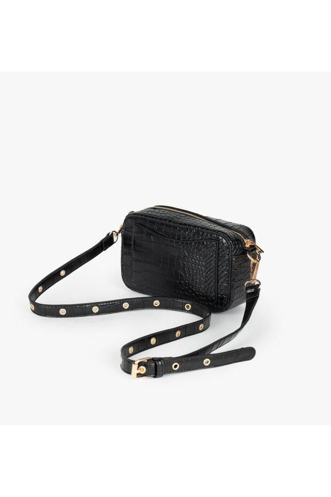 Zwarte cross body tas
