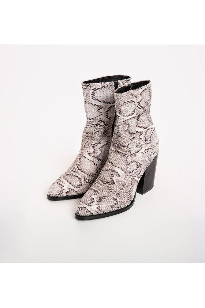 Cowboy laarzen slangenprint