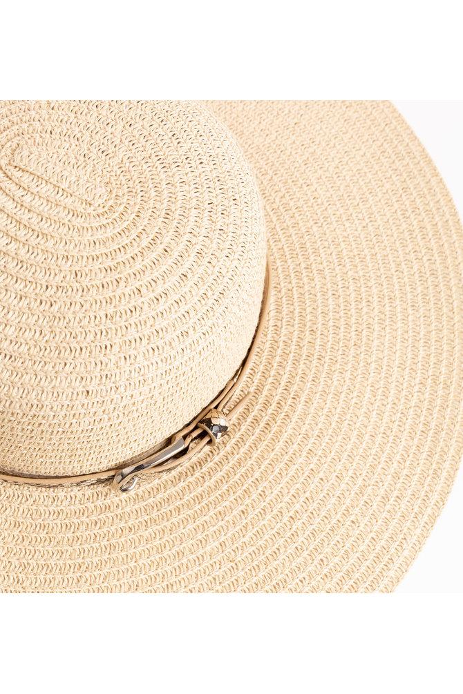 Beige strand hoed