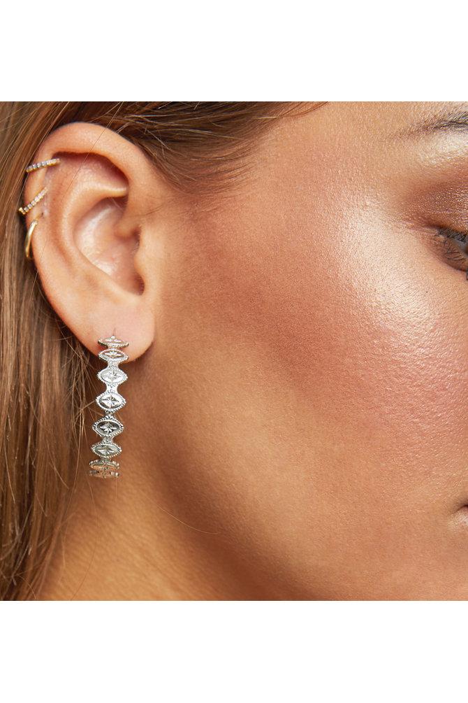 Ronde zilveren oorbellen
