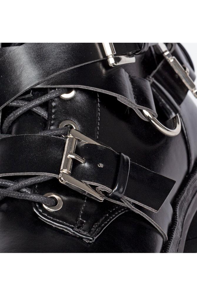 Zwarte biker boot