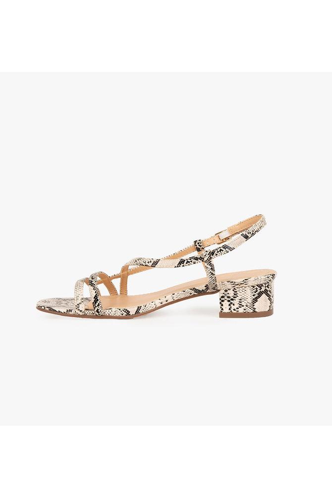 Slangenprint sandaal