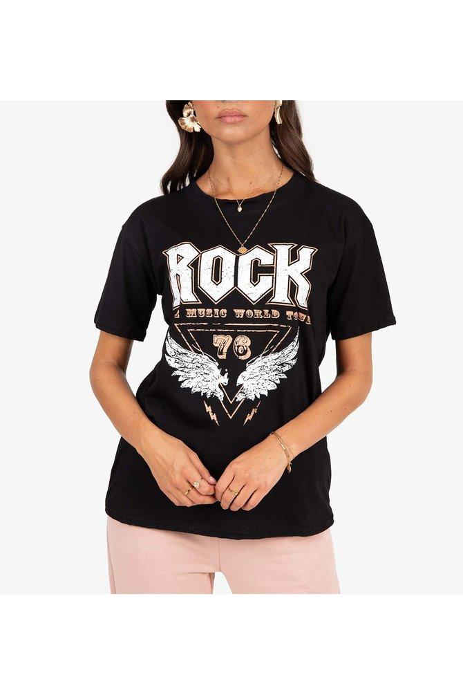 Zwarte vogue shirt