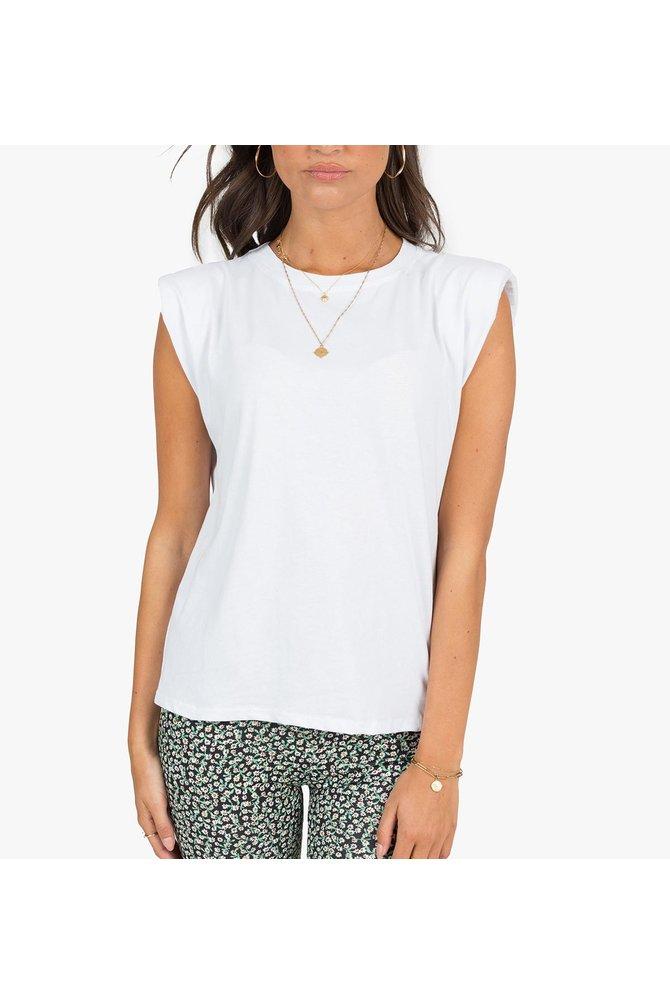 Witte padded shirt