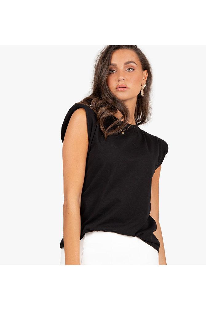 Zwarte padded shirt