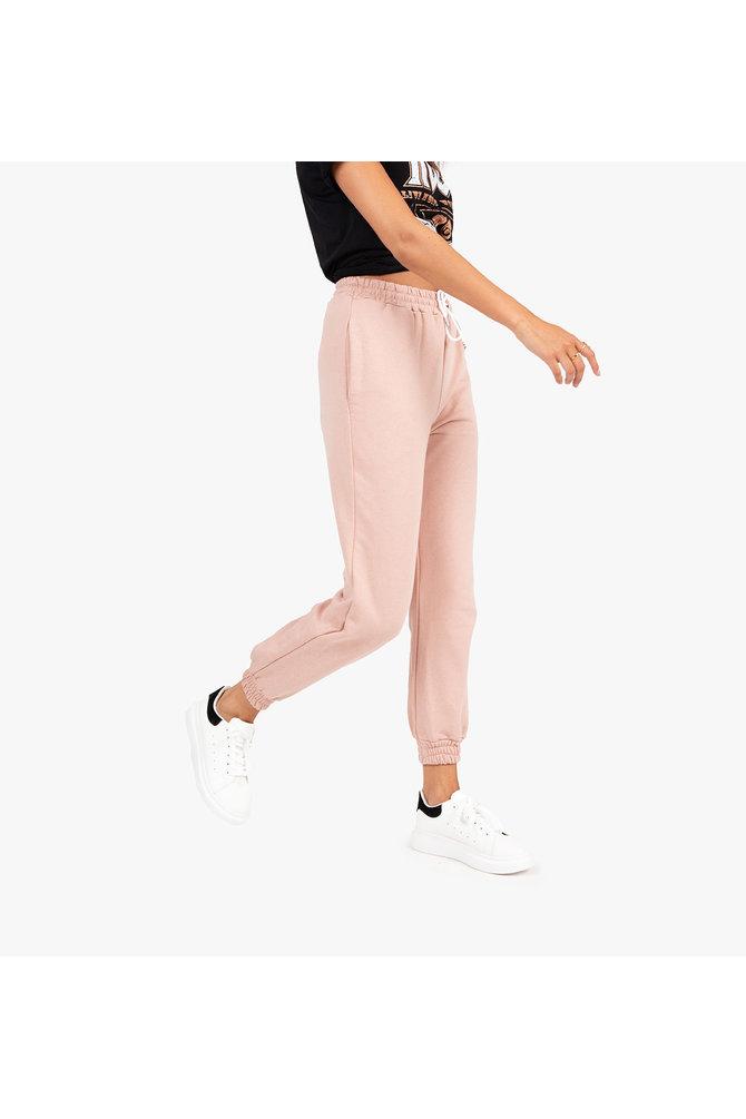 Roze velours jogger