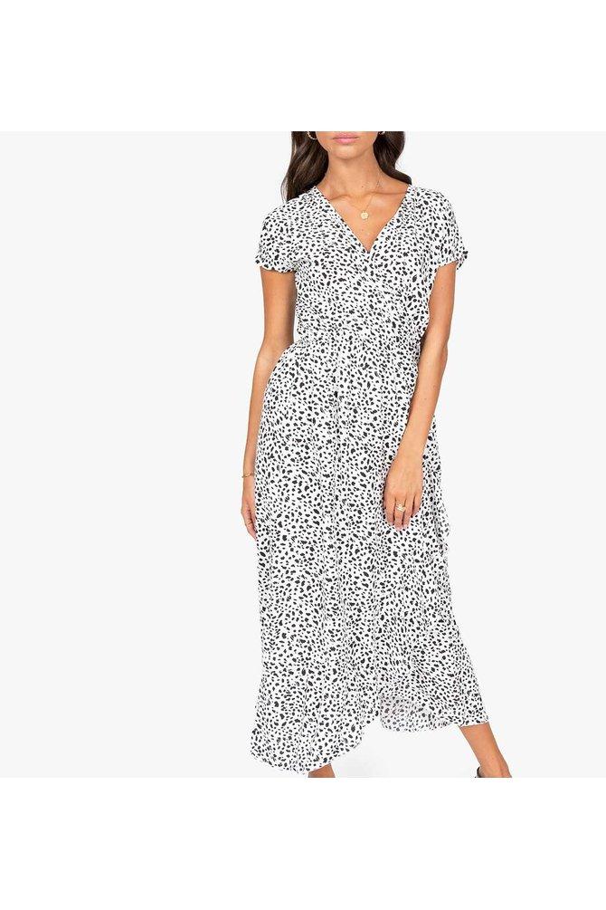 Witte wikkel jurk