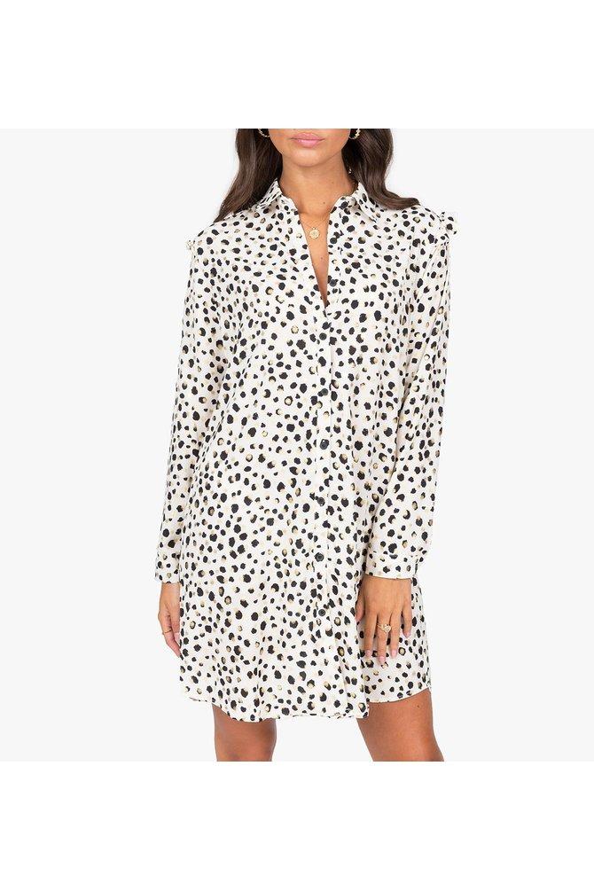 Geprinte overhemd jurk