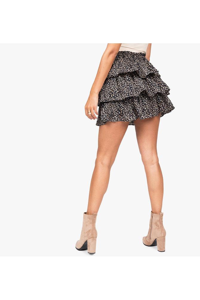 Volant rok zwart