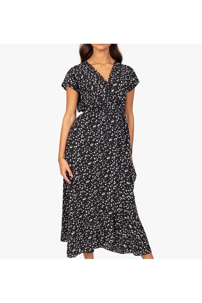 Zwarte wikkel jurk