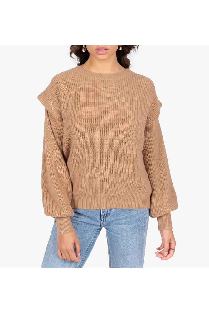 Bruine gehaakte trui