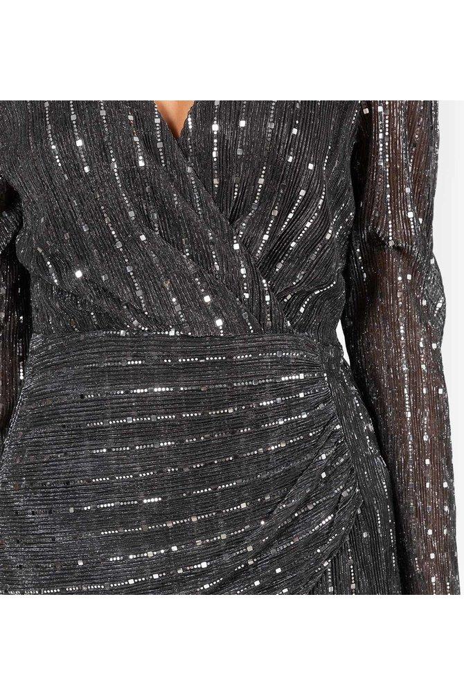 Metallic pailletten jurk