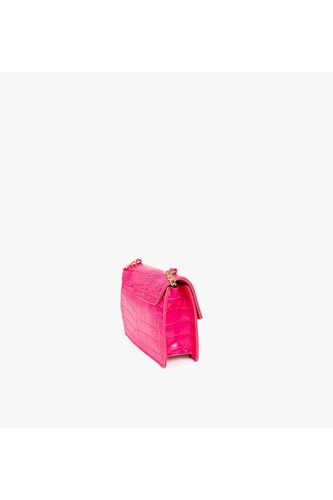 Roze krokodillen tasje