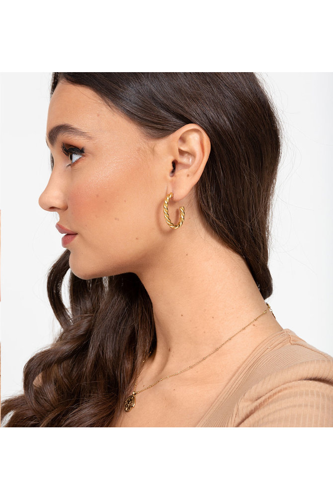 Ovalen gedraaide oorbellen