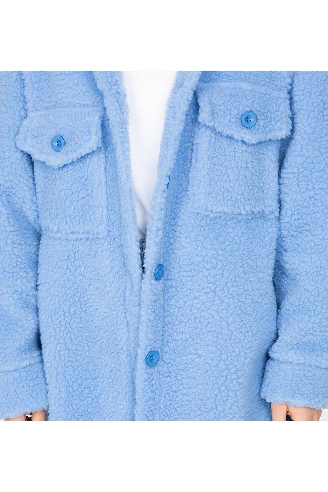 Blauwe teddy jas