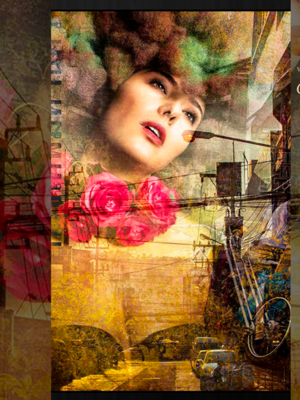 WANDKRAFT Eternal Connection mixed media with ladies fac