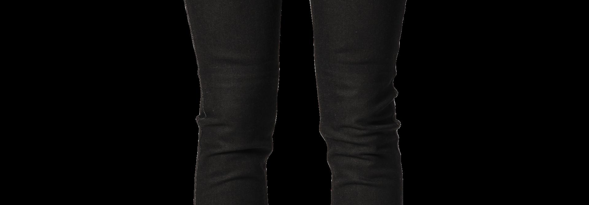Rokkertech high waist black slim dames motorbroek L32