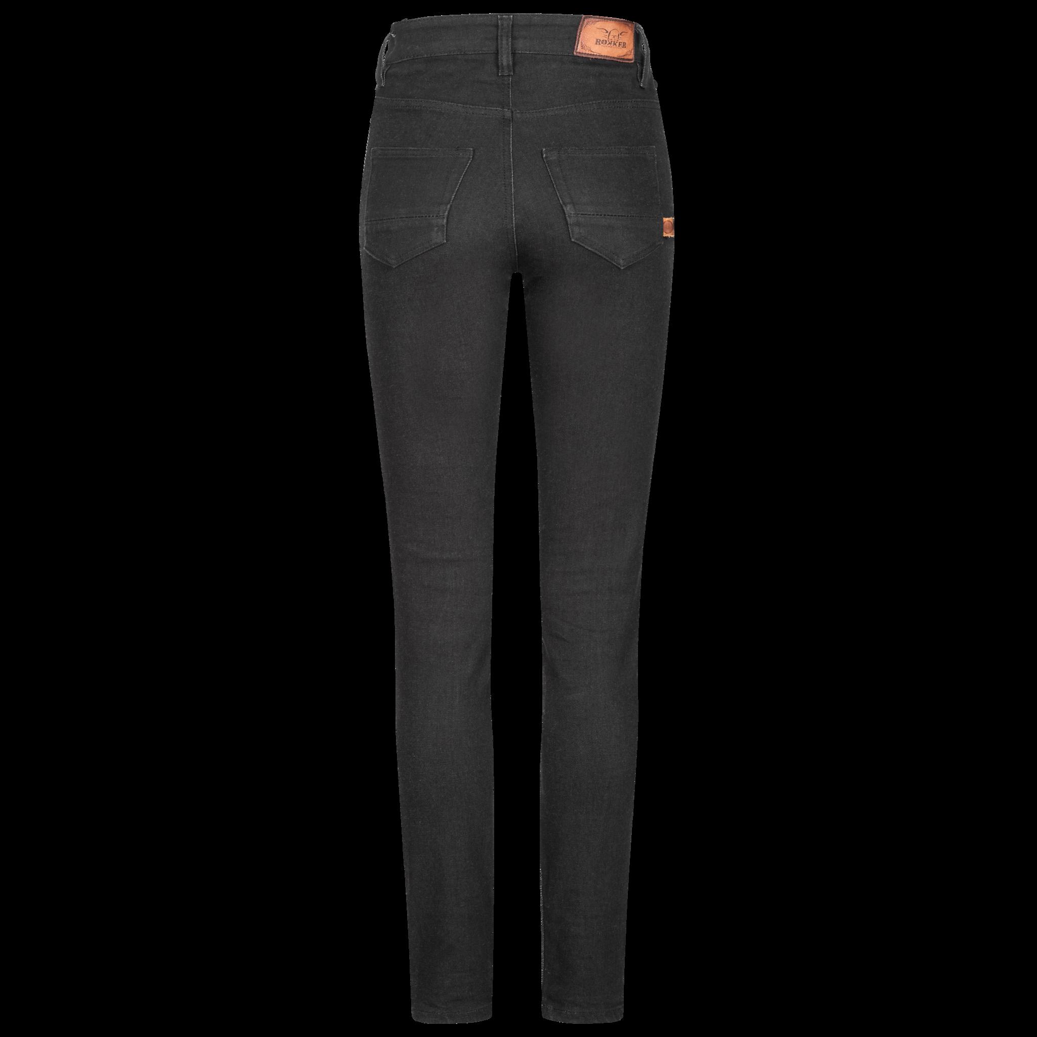 Rokkertech high waist black slim dames motorbroek L32-2