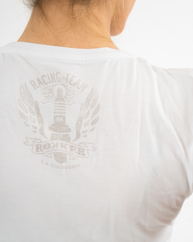Rokker Performance racing tee white-2