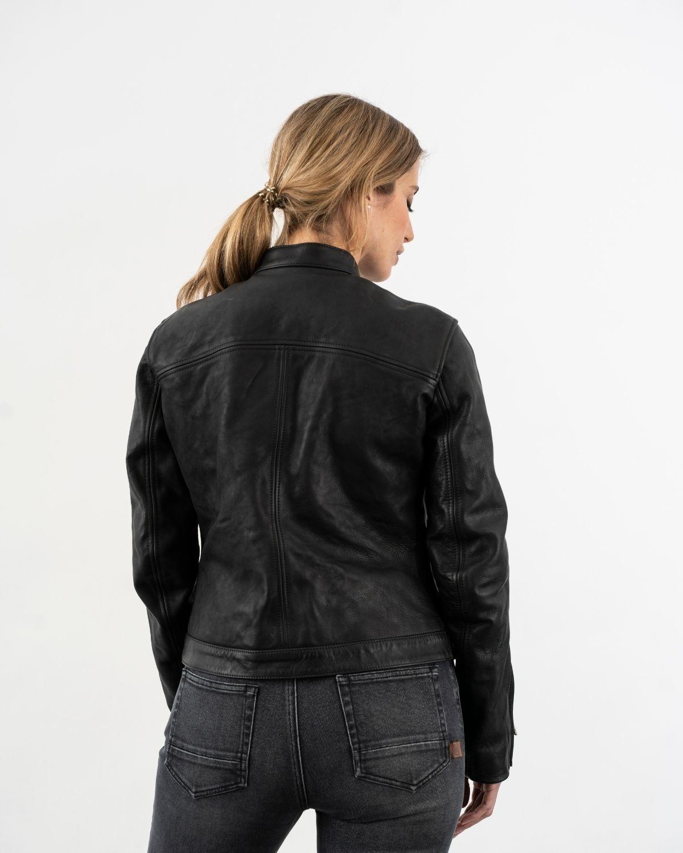 The Rokker Company Ginger leren dames motorjas Black-2