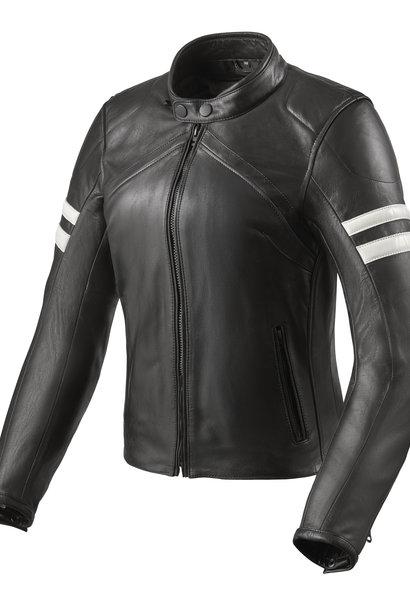 REV'IT! Leren dames motorjas Meridian Black White €359,99