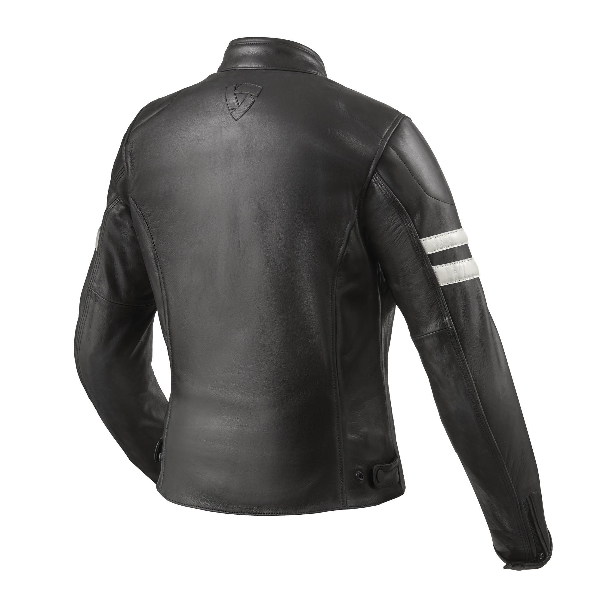 REV'IT! Leren dames motorjas Meridian Black White-3