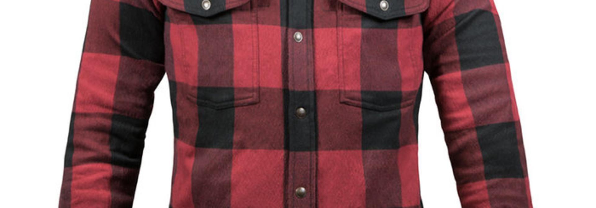 John Doe Motoshirt dames zwart rood