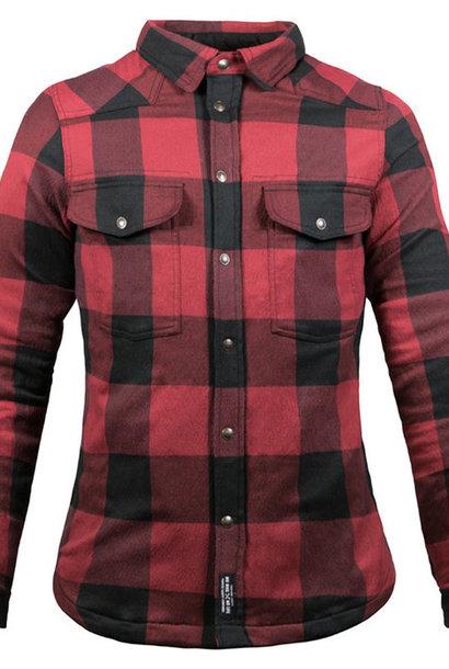 John Doe Motoshirt dames zwart rood €259,00
