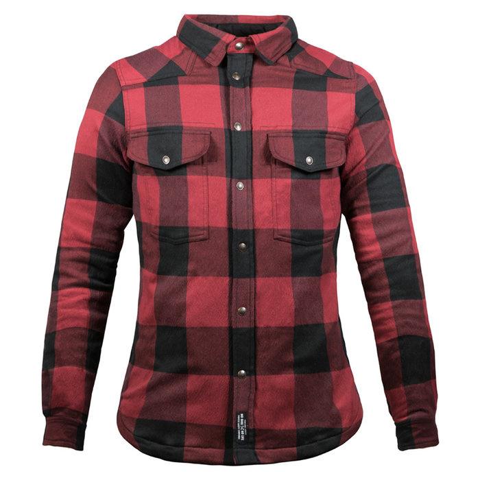 John Doe Motoshirt dames zwart rood-1