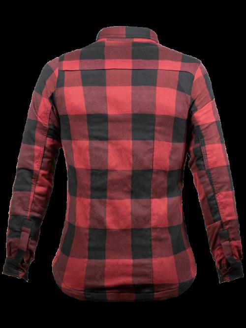 John Doe Motoshirt dames zwart rood-2