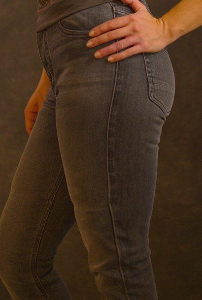 Rokkertech high waist dark grey slim dames motorbroek €399,00