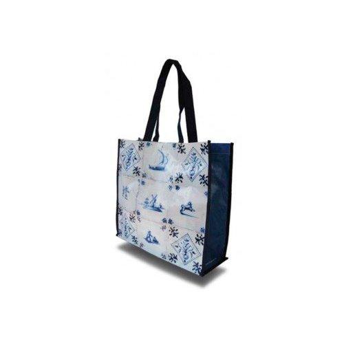 Sac Shopper avec carreaux en bleu de Delft