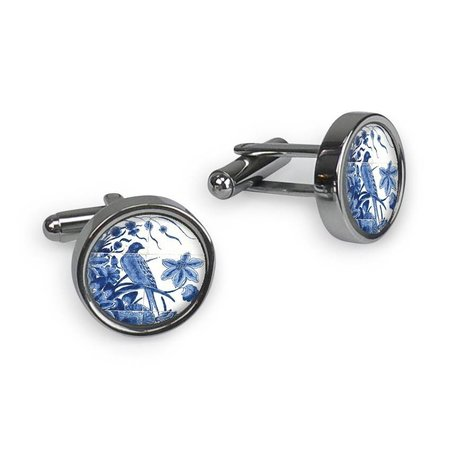 Manchetknopen - Delfts blauw