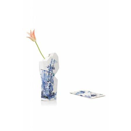 Paper vase Delfts blauw
