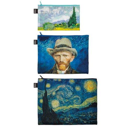 3 poches zippées van Gogh