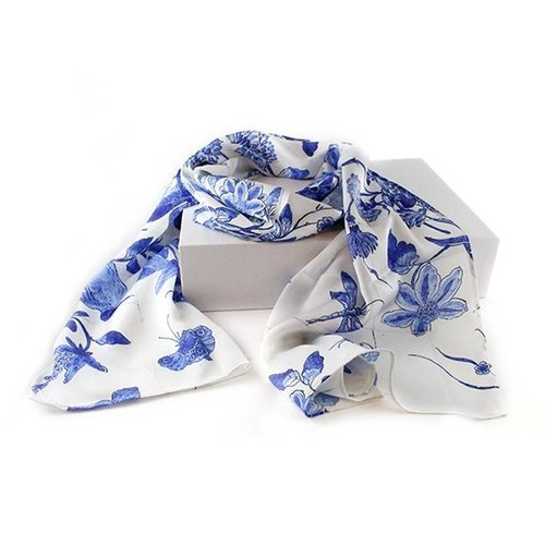 Foulard bleu Delft