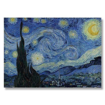 Poster Starry night van Gogh