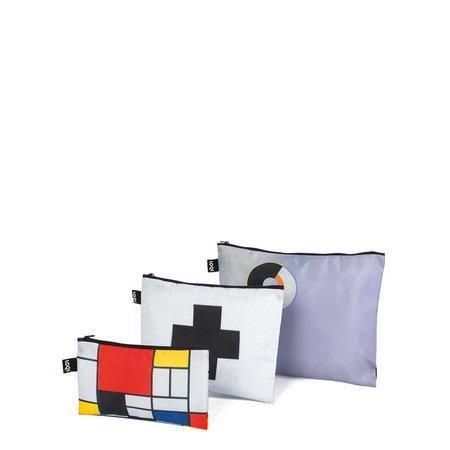 3 Reißverschlusstaschen Mondrian