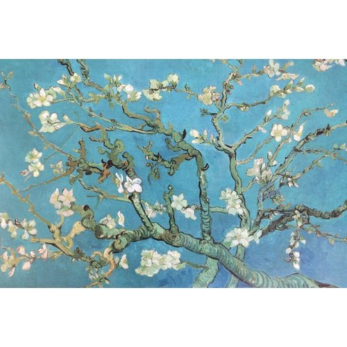 Almond blossom van Gogh replica in baking frame