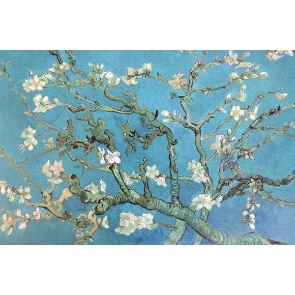 Réplique de van Gogh aux fleurs d'amandier dans un cadre de cuisson
