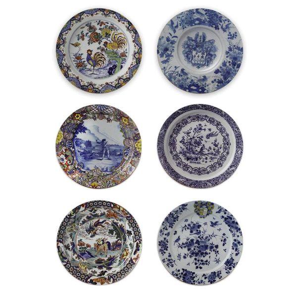 Delft blue plates coasters