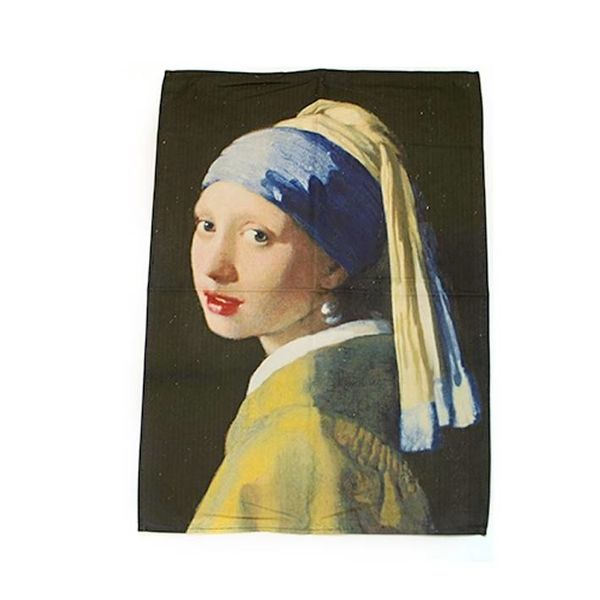 "Tea towel ""Girl with the pearl"""