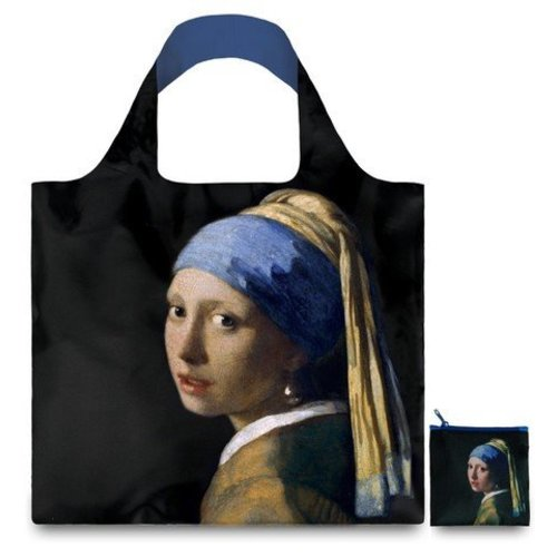 Folding bag with the girl with the pearl