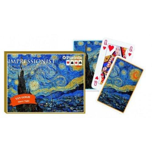 Vincent van Gogh Sternenklare Nacht Spielkarten Doppeldeck