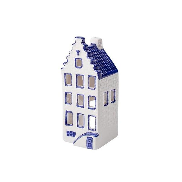 Delft blue waxine holder house