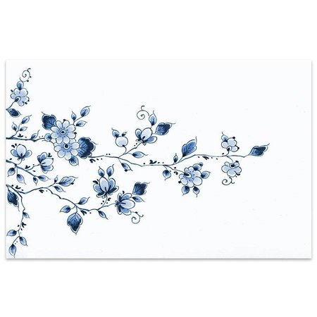 Placemat bloemen Delfts blauw