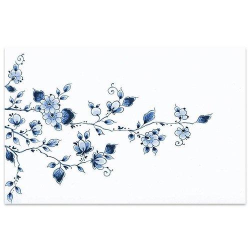 Set de table fleurs Delft bleu