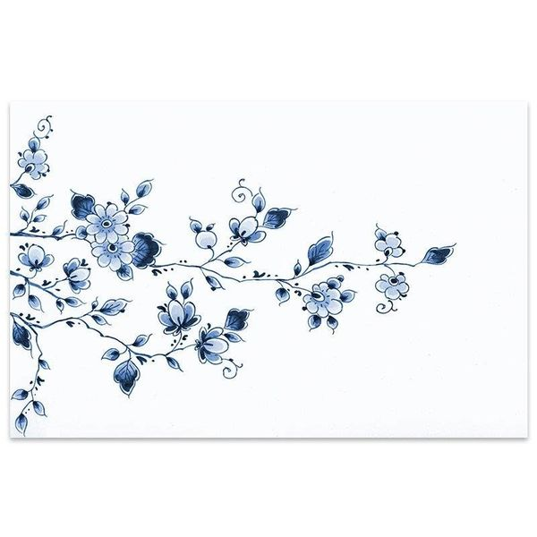 Placemat flowers Delft blue
