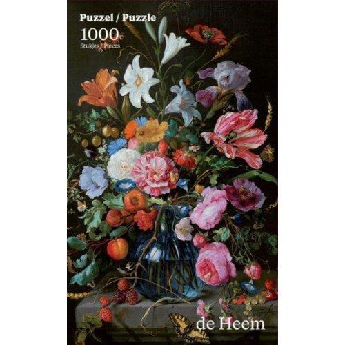 Vase de puzzle avec des fleurs